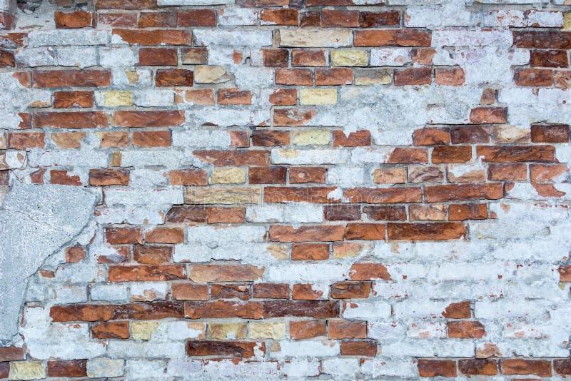 Fondo del muro di mattoni, struttura della parete, mattone d'annata fotografia stock libera da diritti