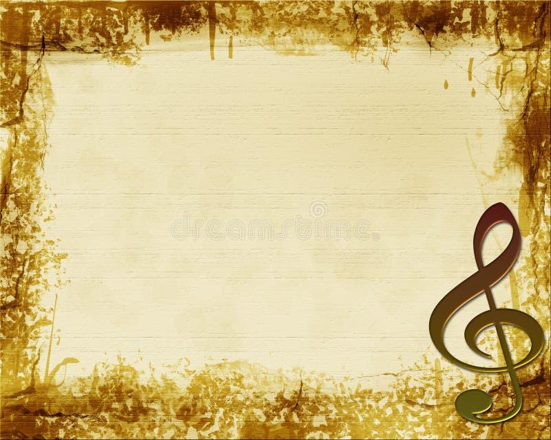 Fondo del Musical de Brown Grunge libre illustration