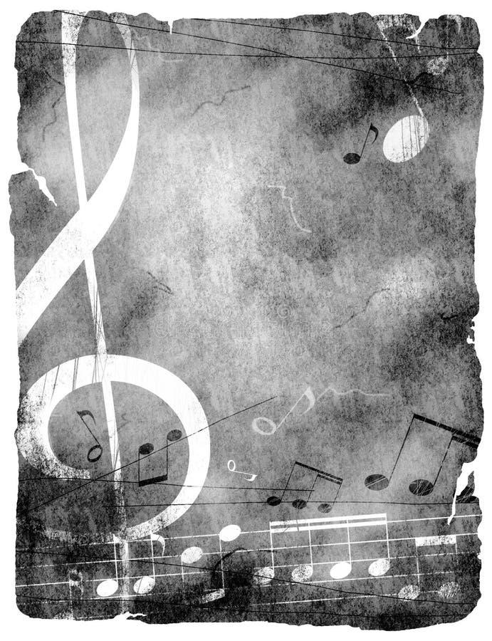 Fondo del musical de Grunge. stock de ilustración