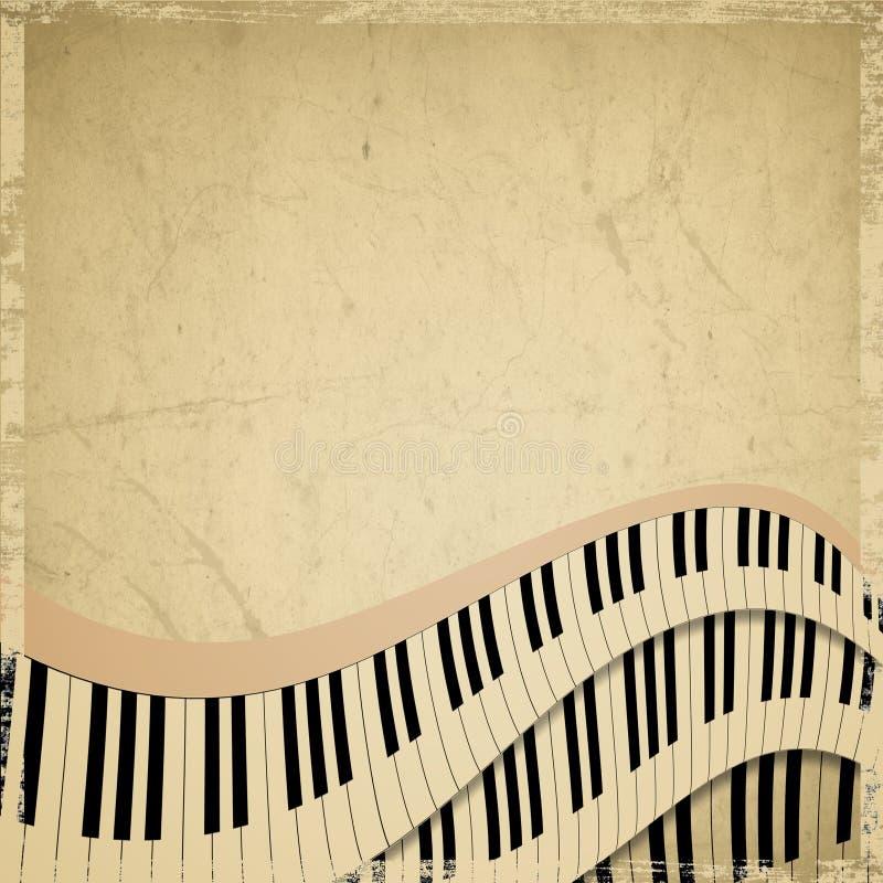 Fondo del musical del Grunge libre illustration