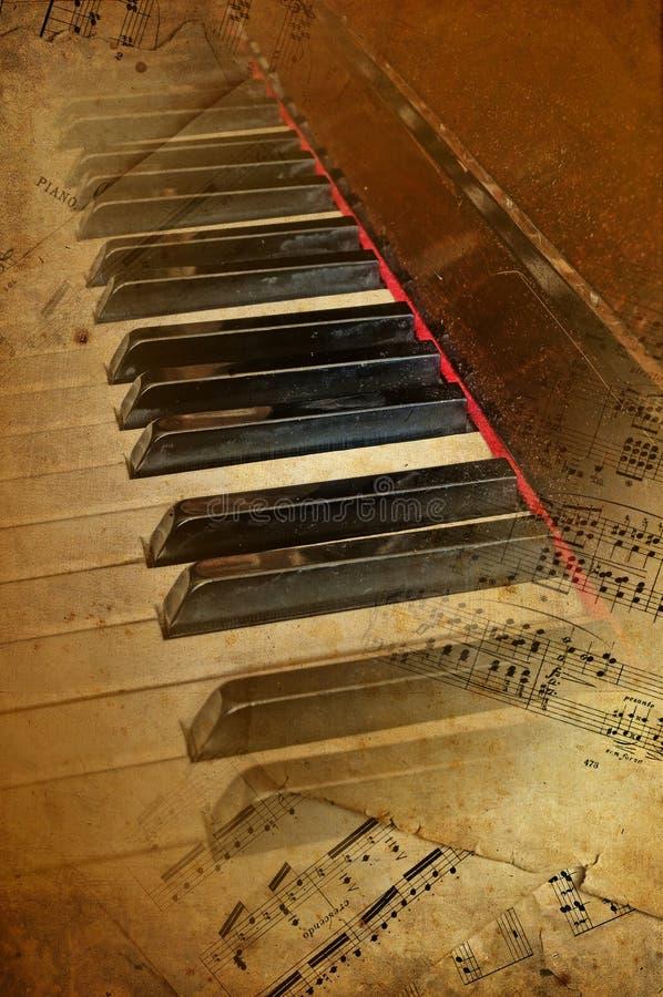 Fondo del musical del piano de Grunge fotos de archivo