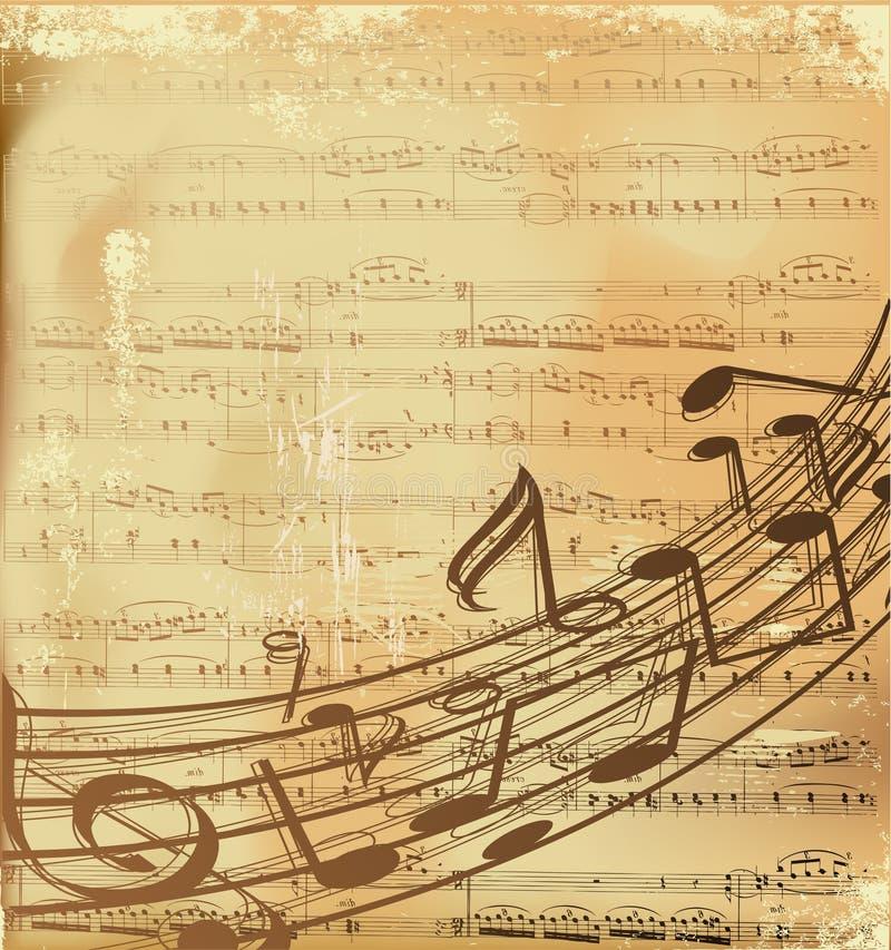 Fondo del musical del vector ilustración del vector