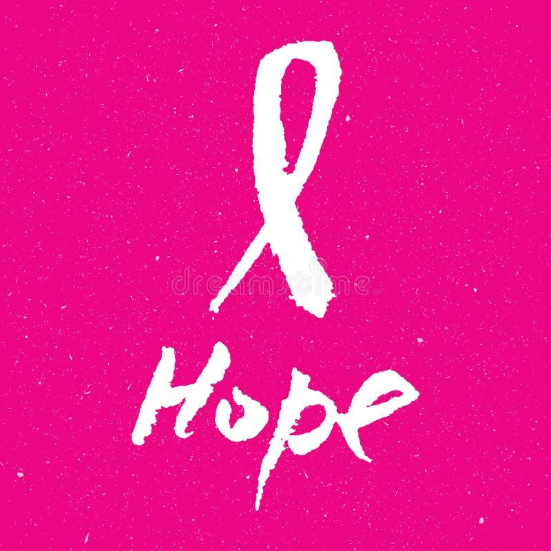 Fondo del nastro di rosa di consapevolezza del cancro al seno, illustrazione illustrazione vettoriale