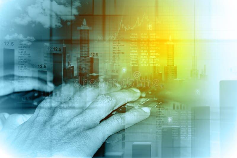 Fondo del negocio con el gráfico stock de ilustración