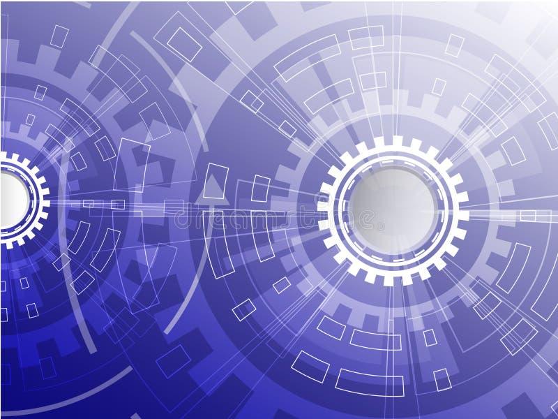 Fondo del negocio de Digitaces, círculo de la tecnología del vector y fondo de la tecnología Fondo tecnológico abstracto azul con libre illustration