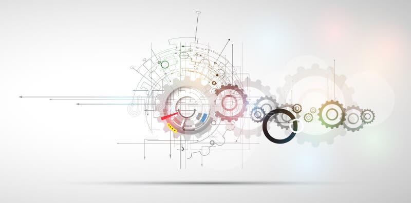 Fondo del negocio de la nueva tecnología stock de ilustración