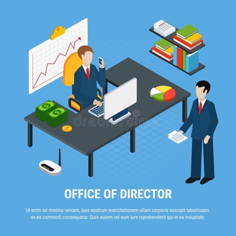 Fondo del negocio de la oficina central stock de ilustración