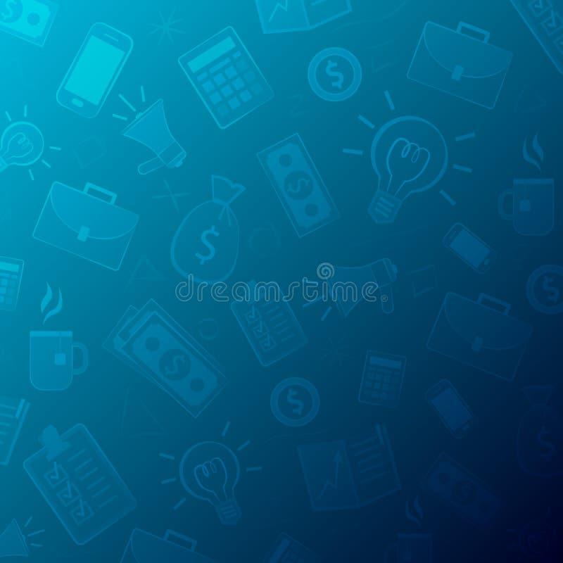 Fondo del negocio hecho de iconos y de pictogramas libre illustration