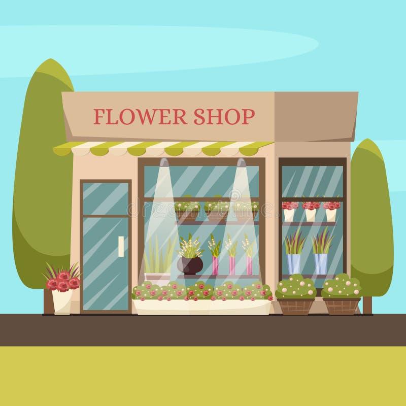 Fondo del negozio di fiore illustrazione di stock