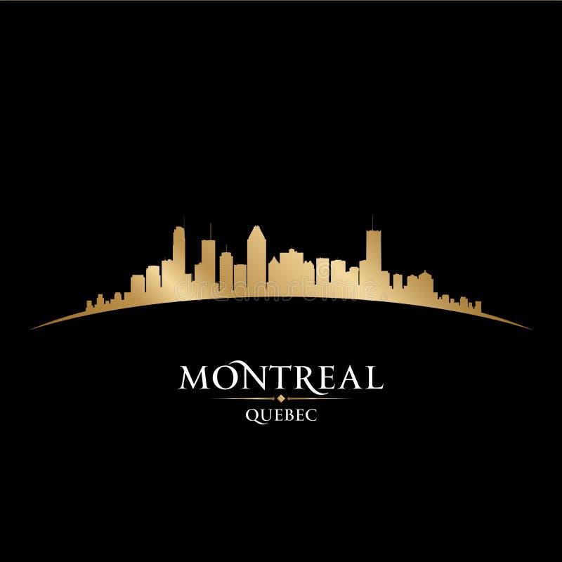 Fondo del negro de la silueta del horizonte de la ciudad de Montreal Quebec Canadá libre illustration