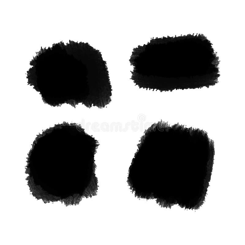 Fondo del negro del vector para la pintura del texto, el movimiento del cepillo de la tinta, el cepillo, la línea o la textura El libre illustration