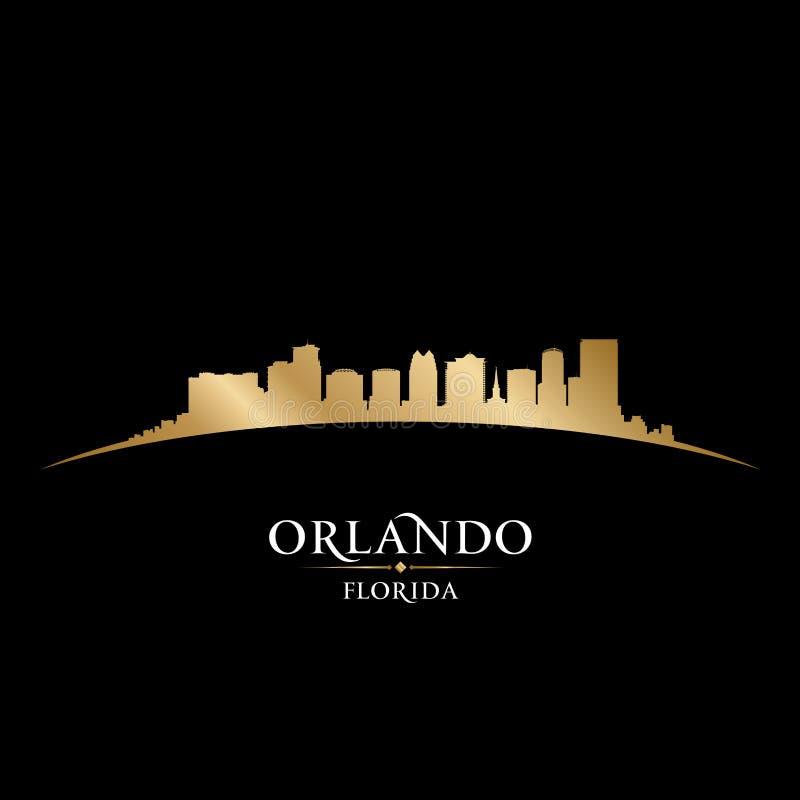 Fondo del nero della siluetta della città di Orlando Florida royalty illustrazione gratis