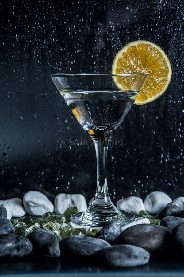 Fondo del nero della tazza della vodka immagine stock