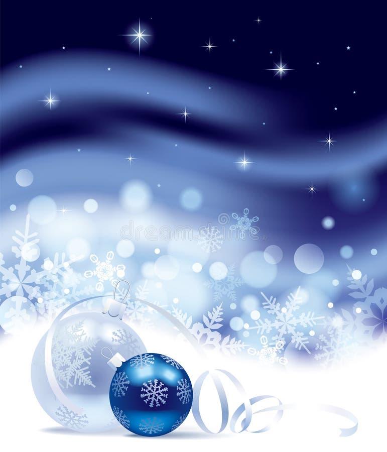 Fondo del nuovo anno e di Natale illustrazione vettoriale