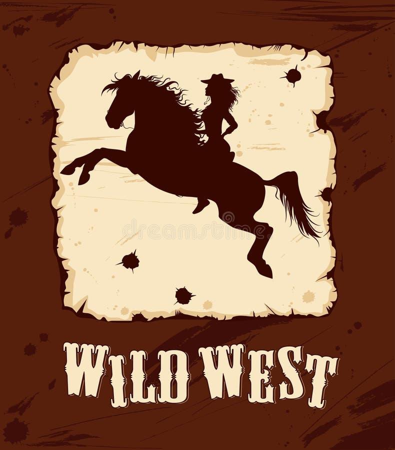 Fondo del oeste salvaje 2 stock de ilustración