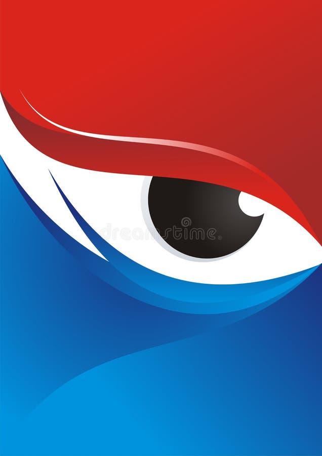 Fondo del ojo con el rojo - diseño azul del color libre illustration