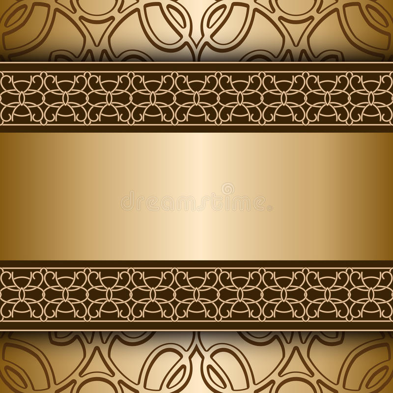 Fondo del oro libre illustration