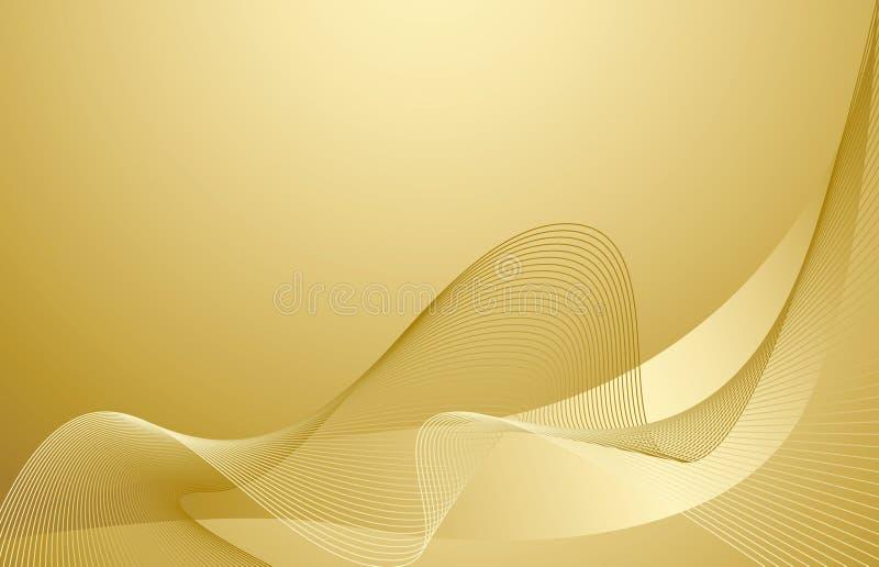 Fondo del oro ilustración del vector