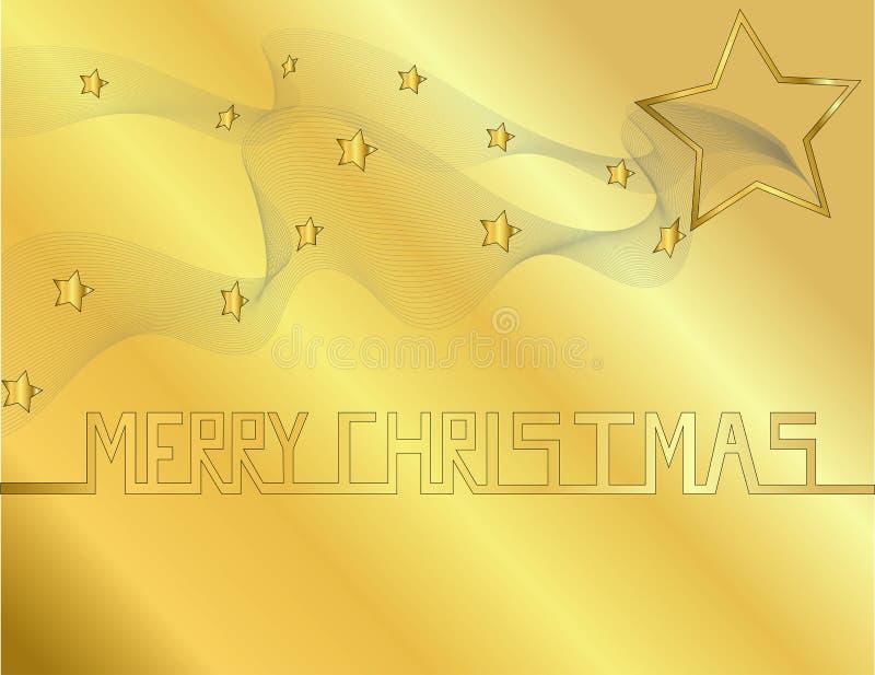 Fondo del oro con la fuente de la Navidad imágenes de archivo libres de regalías