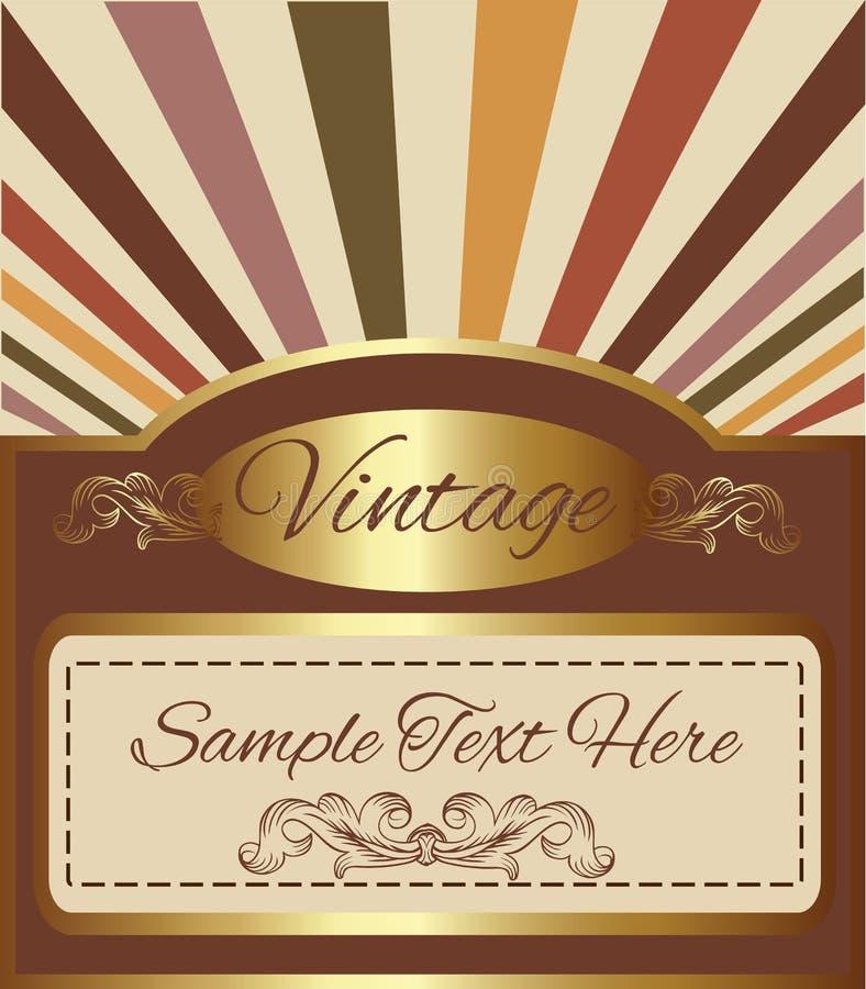 Fondo del oro del vintage con el espacio para su texto libre illustration
