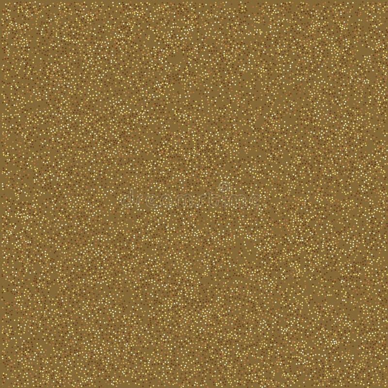 Fondo del oro que relucir, textura de la arena del oro en el vector, fondo del festival ilustración del vector