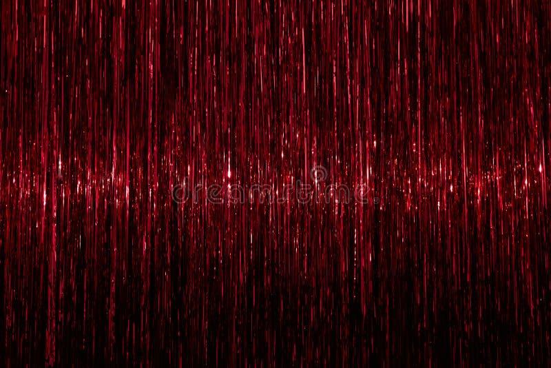 Fondo del oropel Textura abstracta chispeante del rojo fotos de archivo