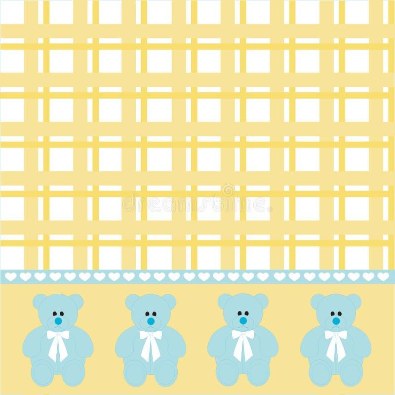 Fondo del oso del bebé ilustración del vector