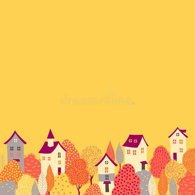 Fondo del otoño ilustración del vector