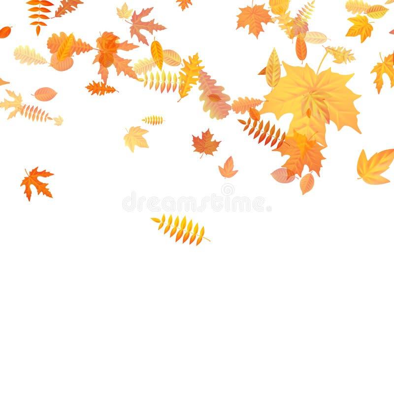 Fondo del otoño con el arce, el roble y otros de oro hojas EPS 10 libre illustration