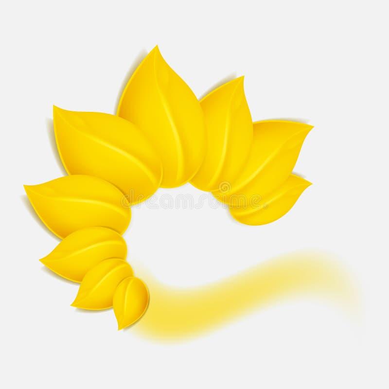 Fondo del otoño con follaje amarillo. libre illustration