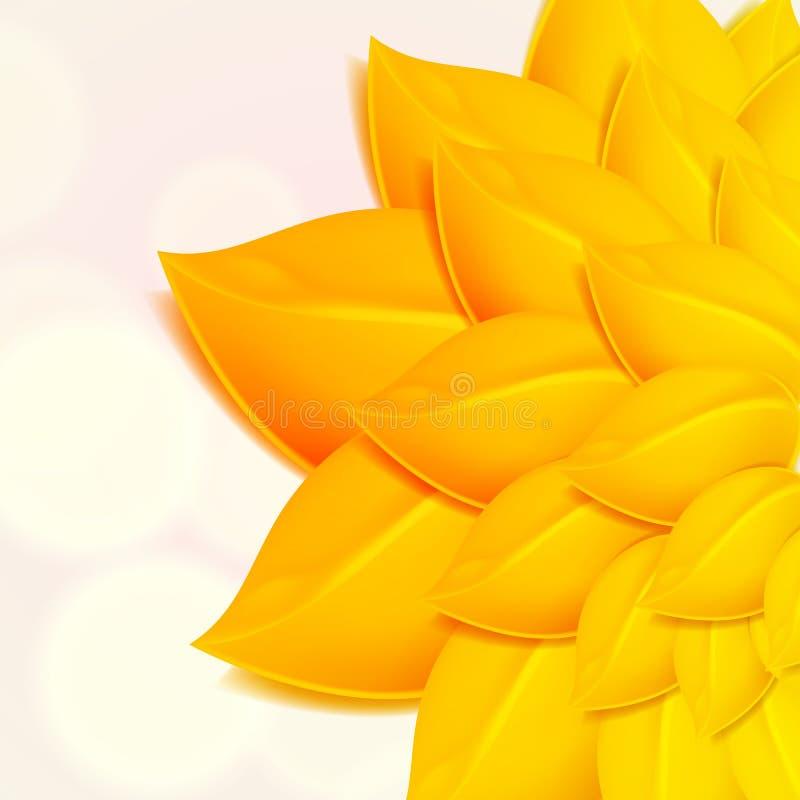 Fondo del otoño con follaje amarillo. ilustración del vector