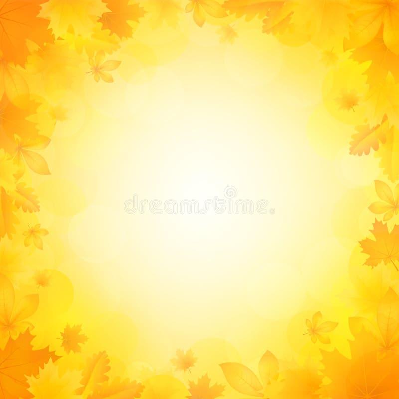 Fondo del otoño de hojas ilustración del vector