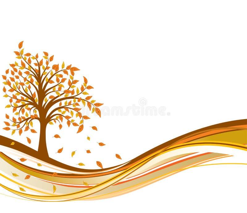 Fondo del otoño del árbol, vector libre illustration