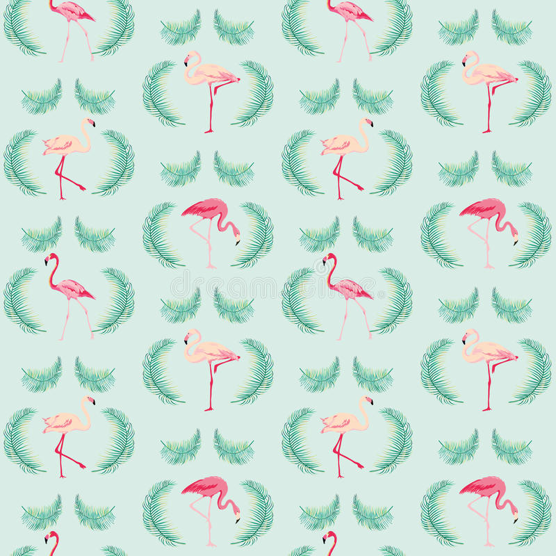 Fondo del pájaro del flamenco ilustración del vector