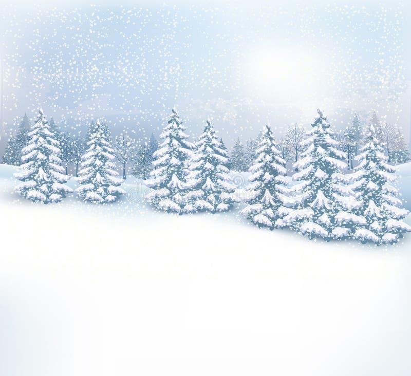 Fondo del paisaje del invierno de la Navidad libre illustration