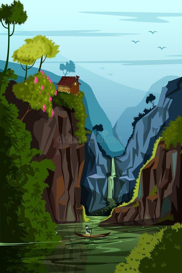Fondo del paisaje del paisaje de la naturaleza stock de ilustración