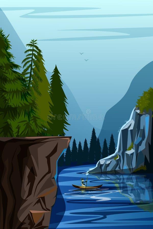 Fondo del paisaje del paisaje de la naturaleza ilustración del vector