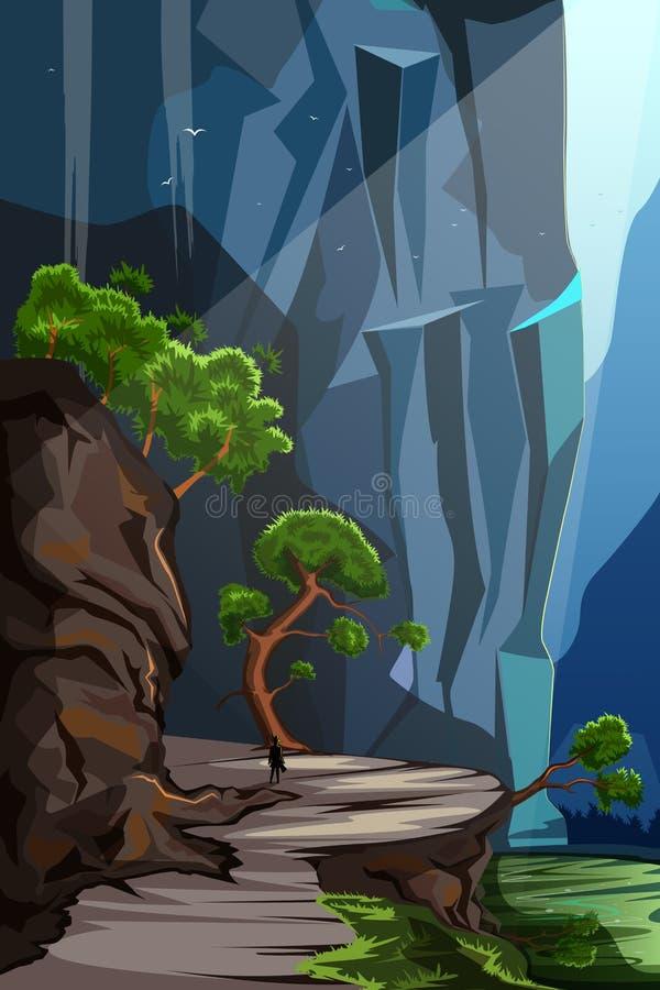 Fondo del paisaje del paisaje de la naturaleza libre illustration
