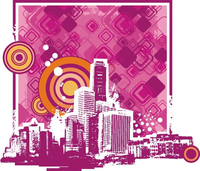 Fondo del paisaje urbano ilustración del vector