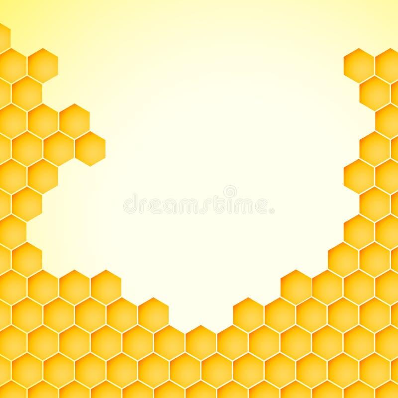 Fondo del panal de una colmena de la abeja Ejemplo del vector de la textura geométrica libre illustration