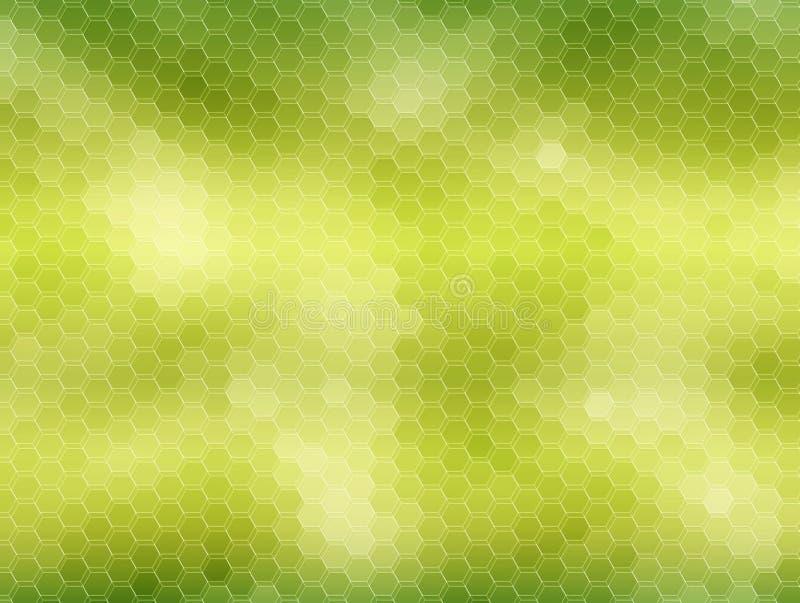 Fondo del panal: verde stock de ilustración
