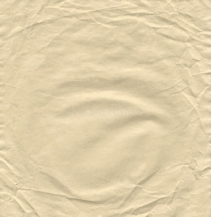 Fondo del papel arrugado viejo crecido del papel prensa libre illustration