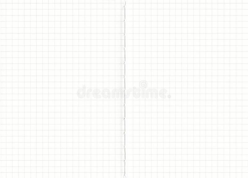 Fondo del papel de la rejilla del cuaderno El negro alineó en el Libro Blanco, fondo de papel de las texturas para el trabajo del imagenes de archivo