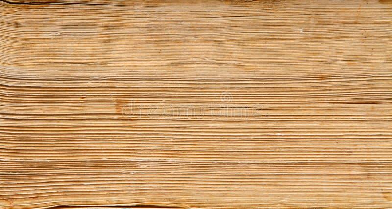 Fondo del papel de libro viejo, macro de las páginas de la espina dorsal foto de archivo libre de regalías