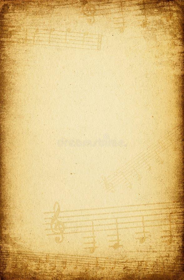 Fondo del papel de música de la vendimia. foto de archivo libre de regalías