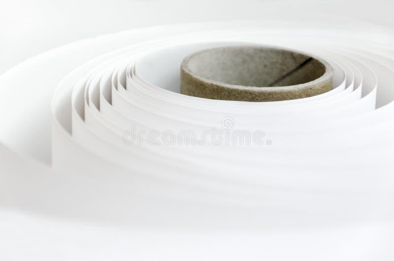 Fondo del papel de rollo de la planta de impresión foto de archivo