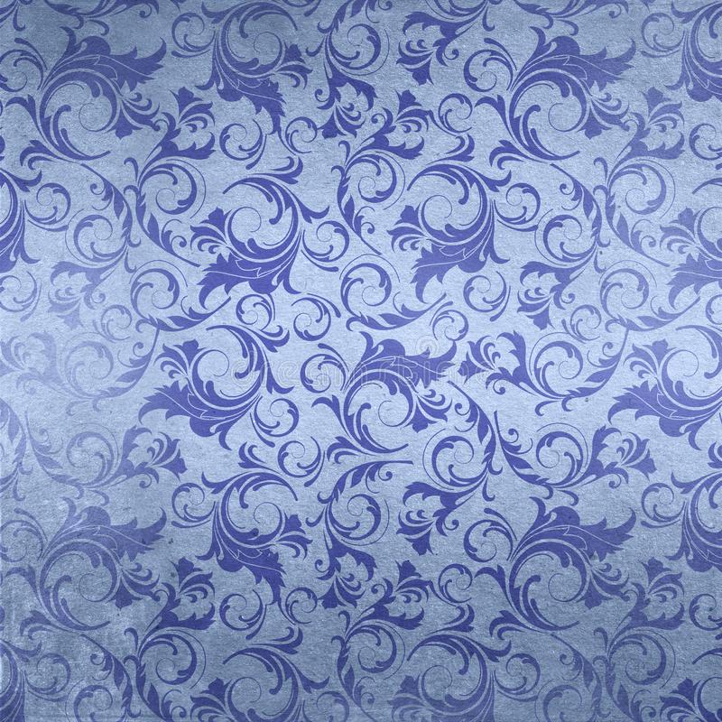 Fondo del papel pintado del damasco del pergamino de la cultura de New Orleans de la vida de Luisiana ilustración del vector