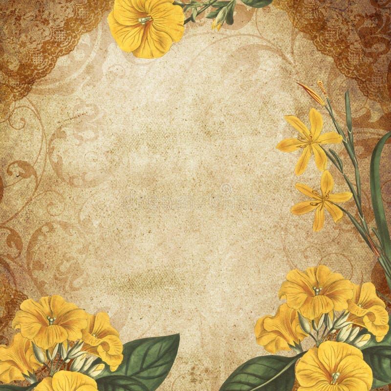Fondo del papel pintado del damasco del pergamino de la cultura de New Orleans de la vida de Luisiana stock de ilustración