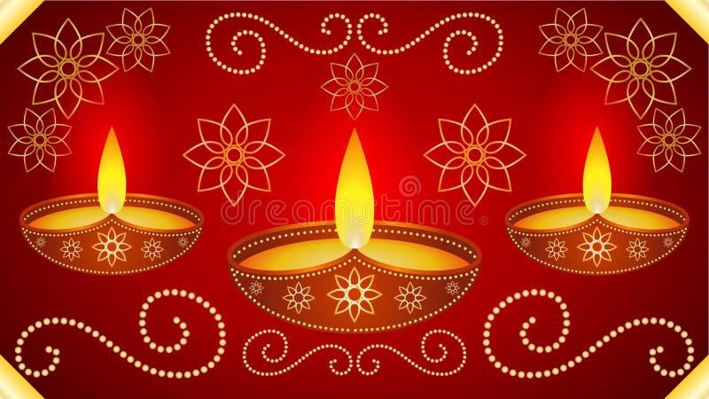 Fondo del papel pintado de Diwali stock de ilustración