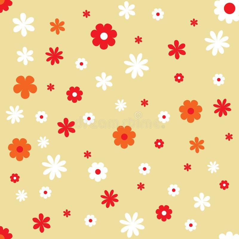 Fondo del papel pintado del marco de las flores stock de ilustración
